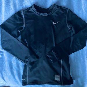 Boys Nike Fit-Dry Athletic Shirt Long Sleeve Small